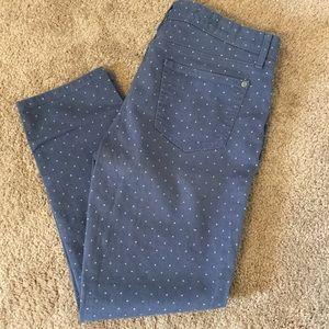 Tommy Hilfiger skinny ankle crop polka dot jeans